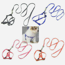Smart Small Dog Pet Puppy Cat Adjustable Nylon Harness with Lead leash 5 Colors
