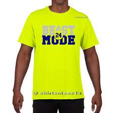 BEAST MODE Marshawn Lynch Seattle Seahawks Safety Green Mens T Shirt