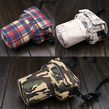 Womens Mens Camera Shoulder Pig Bag Insert For Large Canon 70D 7D Nikon D90 DSLR