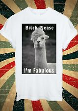 Funny Llama Lama Hair B*tch Please I'm Fabulous T Shirt Men Women Unisex 1088