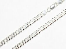 925 Sterling Silver Necklace Cadena Curb Link Chain 5 mm Italy