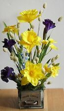 Artificial Spring Daffodil Mothers Day Wedding Flowers Rustic Table Arrangement