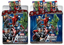 Marvel Avengers Assemble Single/Double Panel Duvet Cover Bed Set New Gift