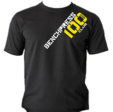 Bench Press Club Pro T-Shirts Kilos Gym Weightlifting Workout Bodybuilding Power