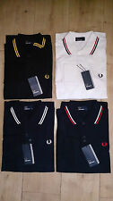 MENS Fred Perry Polo Shirt LONG SLEEVE TWIN TIPPED S M L XL Free Shipping