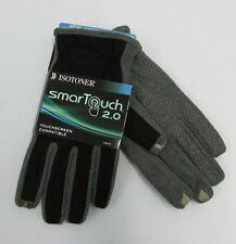 NEW ISOTONER SMART TOUCH 2.0  GLOVES NON SLIP  BLACK /GRAY CHOOSE SIZE $50