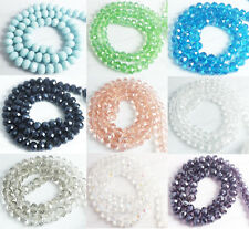 8mm Rondelle Faceted Crystal Glass Spacer Beads Loose DIY Findings USA Seller
