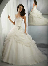 2015 Stock White Wedding dress Bridal Gown custom size 6-8-10-12-14-16-18+++