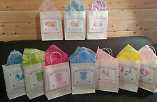 Personalised Baby Shower Gift / Favour Bags With Tissue Paper - Various Designs