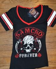Sons of Anarchy SOA SAMCRO FOREVER Juniors V Neck T-Shirt Tee Top