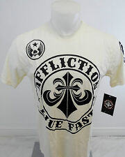 Mens AFFLICTION Shirt Divio Live Fast Dirty White S M L XL 2XL 3XL A10859 NWT