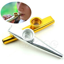 Kazoo Metal Golden Harmonica Mouth Flute Kids Party Gift Kid Musical Instrument