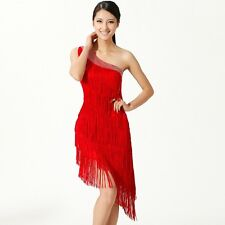 HJ21# Latin Dance Fringe Competition Dress 8 Colors