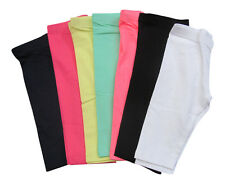 Girls Cotton Crop 3/4 Leggings Cropped Age 3 4 5 6 7 8 9 10 11 12 13 14 Years