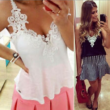 NEW Sexy Summer Cute Girl Lady Lace Camisole Braces Vest Top Shirt Blouse Casual