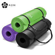 "NEW! AUM 72"" x 24"" x 1/2"" THICK ULTRA SOFT YOGA EXERCISE MAT - HD CELL FOAM"