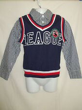Boys Navy Blue League Tank Top and Shirt - 3-4, 5-6, 7-8 & 9-10 Years