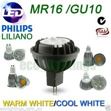 LED PHILIPS /LILIANO MR16 GU10 DOWNLIGHT Bulb COB RETROFIT 5.5W 7W 12W WARM COOL