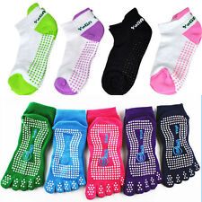 "5-Toe Exercise ""Barefoot Feel"" Yoga Toe Socks With Full Grip Women Yoga Non Slip"