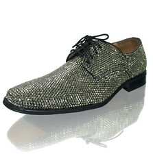 Marc Defang MEN's Groom Hematite Crystal Wedding Shoes