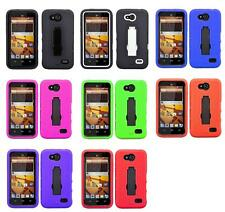 Armor Hybrid Rugged Hard Case Cover Kickstand For ZTE Speed N9130 Boost Mobile