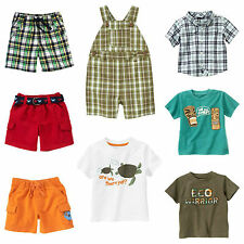 NWT Gymboree Size 6-12 m Boy Summer Shortalls Shorts TShirts Button Shirts Plaid