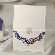 Laser Cut Delicate Pattern Design Wedding Invitations Cards And Envelopes, Seals