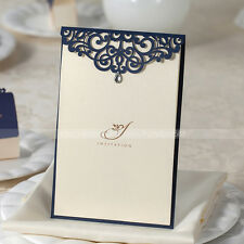 Laser Cut Delicate Pattern Design Wedding Invitations Cards With Envelopes,Seals