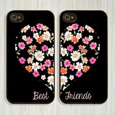 Unique Best Friends Style Flowers Printing Hard Cover Case For iphone 5 5s 6 4s