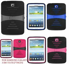 """For Samsung Galaxy Tab 3 7.0""""/ 7-inch T217S Tablet Armor Rugged Cover Hard Case"""