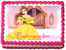 BELLE PRINCESS Beauty and the beast Edible image Cake topper decoration