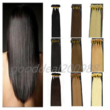 NEW 22'' 50G 100S 100% Remy Nail U-Tip Keratin Protein Human Hair Extensions