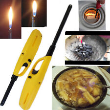 2pc Gas Cooker Lighters BBQ Refillable Piezo Ignition Safety Lock Kitchen Tool
