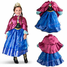 FROZEN ELSA PURPLE  ANNA PRINCESS DRESS KIDS COSTUME PARTY FANCY SNOW QUEEN
