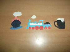 Mulberry Paper Die Cut Toppers Mens 4Trains, 4 Boats, 10 Beers Various Designs