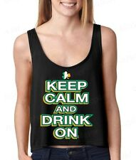 Keep Calm and Drink On  Boxy Tank Top funny St. Patrick's Day Tank Tops