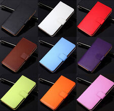 Genuine Leather Flip Wallet Case Cover For Sony Xperia S V T P M L E J U go SP