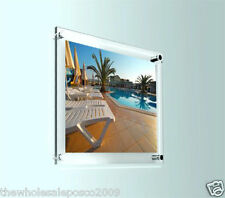 Photo Frame Wall Mount Clear Perspex Poster Picture Display Holder Choose a Size