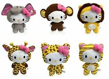 Hello Kitty Circus Animal Plush Elephant Giraffe Tiger Lion Leopard Monkey 10""