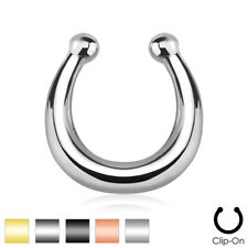 1pc Non-Piercing Horseshoe Septum Hanger Clip-On Fake Nose Ring