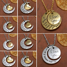 """New Fashion Sale Jewelry """"I Love You To The Moon And Back"""" Necklace Pendant Gift"""