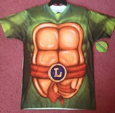 Teenage Mutant Ninja Turtles Leonardo Shell Costume TShirt TMNT Green Muscles