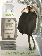 *BUY 3 FOR $27- RUSK 100% Water & Chemical Resistant Salon Snap Cape-Reg $22 ea
