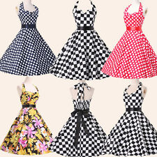New Ladies Rockabilly Vintage 50s Swing Pinup Party Prom Dress 4Colors S M L XL