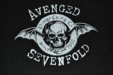 Avenged Sevenfold Black Logo Style Adult T-Shirt Tee Brand New with Tags