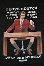 I Love Scotch Anchorman Legend of Ron Burgundy T-Shirt Adult Tee Brand New Tags