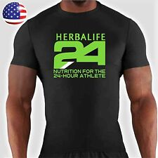 HERBALIFE PRODUCTS S, M, L & XL BLACK COMPRESSION SHIRT *NEW*