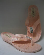 Spot on ladies flip flops. F10313. Peach synthetic.