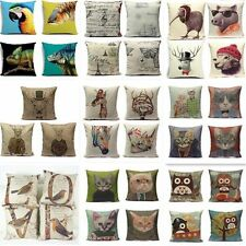 Luxury Vintage Linen Cotton Cushion Cover Throw Pillow Case Home Sofa Car Decor