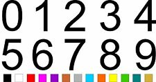 1x Set of Numbers 0 to 9 (4 inches tall) Vinyl Bumper Stickers Decals #a972